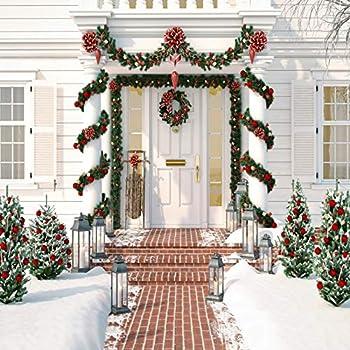 YongFoto 3x2m Vinile Fondali Fotografici Natale Scatole regalo e palle sulla neve Sfondi Foto Partito Studio Fotografico Puntelli