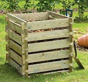 Wooden Composter Small 373 Litres Amazon Co Uk Garden Amp Outdoors