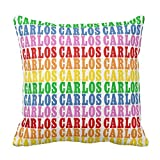 Zierkissenbezüge Rainbow Carlos Sofa Pillow Cover Decorative Couch Cushion Cover for Living Room Canvas Slipcover 45 x 45cm