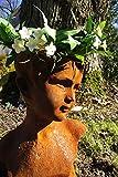 Antikas Skulptur, Mädchen Büste, Frauenkopf, Gartenfiguren, Eisen, Rost