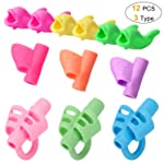12 PCS Pencil Grips for Kids Handwriting for Preschool,Silicone Pencil Holder Pen Writing Aid Grip Posture Correction...