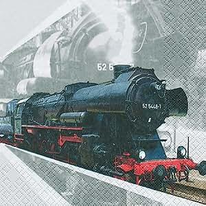 20serviettes Motif locomotive 33x 33cm