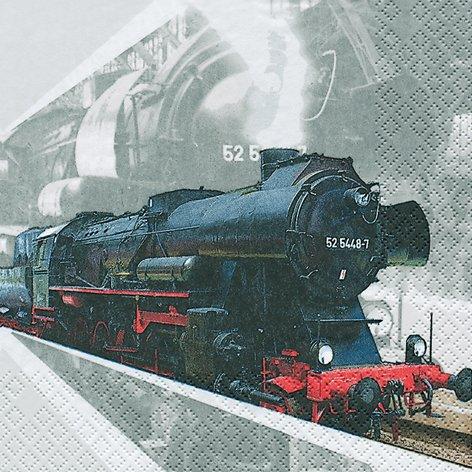 20 Servietten Lokomotive / Lok / Zug / Eisenbahn 33x33cm