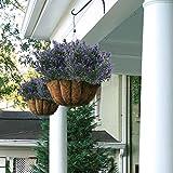 Nahuaa lila pflanzen 4 stücke künstliche kunststoff pflanzen dekoration künstliche sträucher dekoration büro garten balkone park - 2
