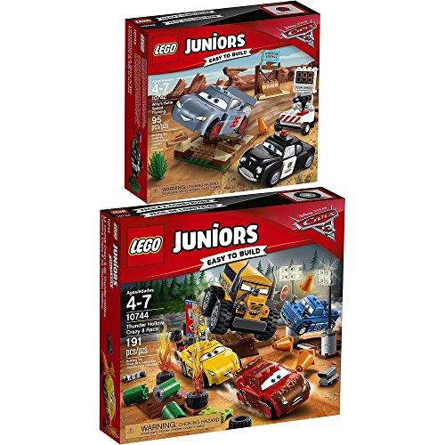 LEGO Juniors Disney Cars 2er Set 10742 10744 Rasante Trainingsrunden in der Teufelsschanze + Crazy 8 Rennen in Thunder Hollow (Lego-sets Cars Disney)
