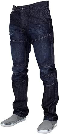 Crosshatch Mens Denim Jeans Woodel Bottoms Trousers Straight Leg Pants Casual