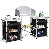 Happybuy Mesa de camping portátil multifuncional para cocinar ...