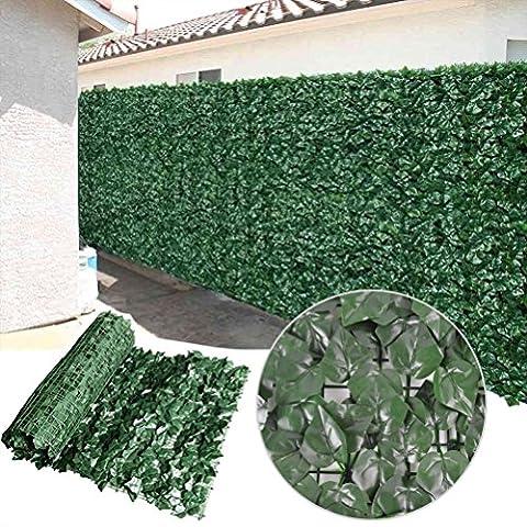 Künstliche Efeuhecke Sichtschutz-Zaun, Dekoration, 2Größe erhältlich, Style C, 1.5m x 3m