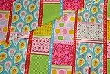 Unbekannt 1 m * 1,4 m Patchwork Stoff Baumwolle pink -