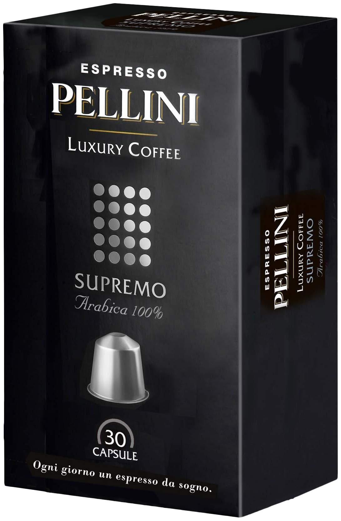 Pellini Caffè - Espresso Pellini Luxury Coffee Supremo (Astuccio da 30 Capsule), Compatibili Nespresso 1 spesavip