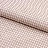 Hans-Textil-Shop Stoff Meterware, Karo 3x3 mm, Beige,