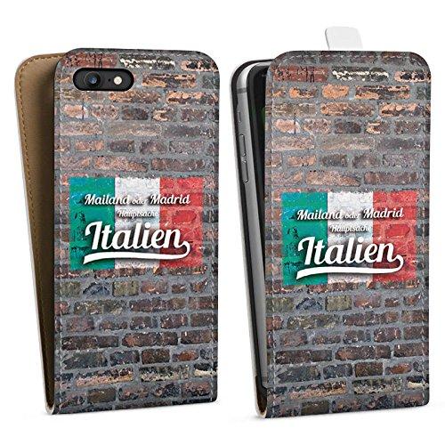Apple iPhone X Silikon Hülle Case Schutzhülle Hauptsache Italien Humor Fußball Spruch Downflip Tasche weiß
