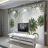 LHDLily 3D Hintergrundbild Tapete Fresken Wandaufkleber Verdickung Royal Luxus Und Eleganten Blüten Und Parkett Tv Vertrag Große Tapeten Home Decor 300Cmx200Cm