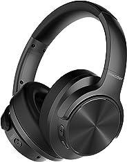 Mixcder E9 Wireless Active Noise Cancelling Kopfhörer, Bluetooth Kopfhörer (Duale 40mm Treiber, Bluetooth CSR, Komfortable Protein-Ohrpolsters, 30 Stunden Spielzeit), Faltbare Ohrhörer - Schwarz