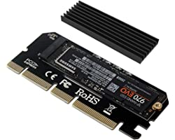 6amLifestyle M2 NVME PCIe Adaptador para SSD x16 PCI Express 3.0 con Aluminio Disipador de Calor Soporte PCIe x4 x8 x16 Ranur