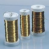Messingdraht 0,5mm x 30m, gold - Basteldraht Schmuckdraht