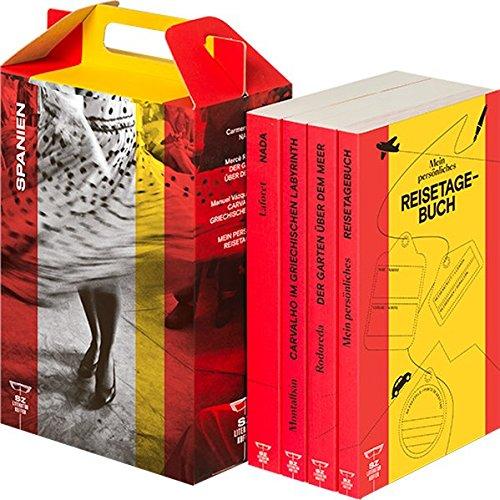 SZ Literaturkoffer Spanien | Bücher Set | Literatur-Sammlung mit Rodoreda, Laforet und Montalbán | 4 Taschenbücher