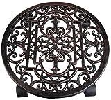 Esschert TG21 design, Antik-Pflanzentrolley rund,Durchmesser: 28 cm, 29,1 x 29,1 x 4,8 cm
