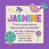 Jasmin–Heartfelt Namen personalisierbar Rahmen Kunst Arbeit mit Bedeutungen in einem 18cm x 18x 18Rahmen