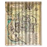 Special designer case étanche harry potter and the marauder's map rideau de douche (60 x 72 pouces/150 x 180 cm--uPUP pS1755 cm)