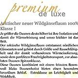 PREMIUM DE LUXE - Daunendecke - MEDIUM - 155x220cm - 100% Gänseflaum - 910 gr. - Deutsches Qualitätsprodukt - 975.50.011 -