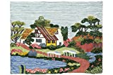Jute & Co Arazzo Tessuto su Telaio Artigianale Indiano, 100 % Juta, Multicolore, 60 x 90 x cm