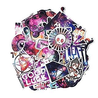Coole Sternenhimmel Aufkleber Pack [50 Stück], Graffiti Aufkleber Decals Vinyls für Laptop, Autos, Motorrad, Fahrrad, Skateboard Gepäck, Autoaufkleber Hippie Decals Bombe Wasserdicht