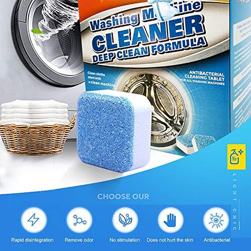 Crazy lin Waschmaschinen-Brausetabletten-Reiniger, Waschmaschinen-Reiniger, Waschtabletten - Effektive Dekontamination, ungiftige Haushaltsreinigung -