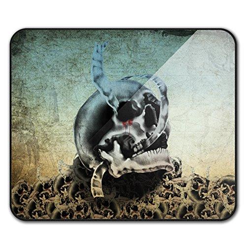 Blut Metall Tod Schädel Mouse Mat Pad, Realistisch Rutschfeste Unterlage - Glatte Oberfläche, verbessertes Tracking, Gummibasis von ()
