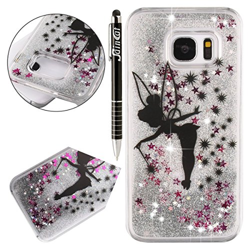 saincat-coque-samsung-galaxy-s7-edgedesign-3d-transparent-liquide-paillette-brillante-coque-plastiqu