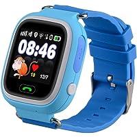 Bambini Smartwatch 1.22 pollici touch screen GPS Tracker SOS Anti-perso Bambini Orologio Finder sicurezza Monitor (Blu)