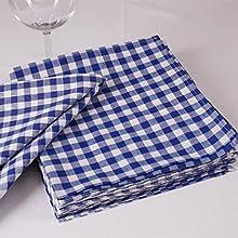 Cuadros Servilletas, 1x 1cm, algodón, muchos colores y Tamaños, durchgewebt, cuadriculado, tejida, ropa de mesa
