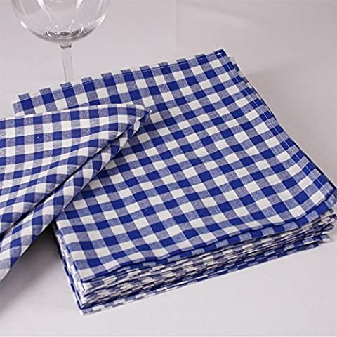 Check Napkin, 1x 1cm Cotton, Available in a Range of