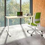 Weber Büro PROFI Schreibtisch 160x80cm T-EASY Ahorn Bürotisch Arbeitstisch Computertisch Büro, Gestellfarbe:Weiß