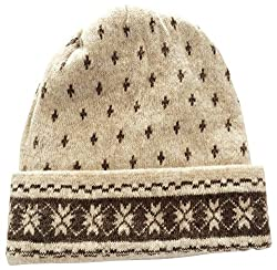 Graceway Unisex Wool Cap (Beige and Brown)