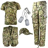 Kombat UK Explorer Kit - Traje de camuflaje para niños , Multicolor (British Terrain...