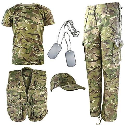 Kombat UK Enfant BTP Camouflage Armée Explorer Kit 3-4 ans British Terrain Pattern