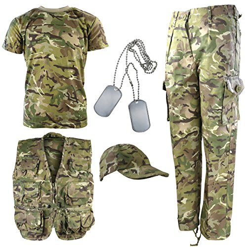 Kombat UK Kinder BTP Camouflage Explorer Armee Set 12-13 Jahre British Terrain Pattern -