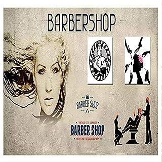 Barber Shop 3D Wallpaperoriginal Nordic Style Nostalgic Hand-Painted Hair Salon Salon Beauty Salon Wall, 350X245 cm (137.8 X96.5 in)