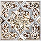 Burkina Home Decor 1371503 Cuadro Pintado, Lienzo, Multicolor, 102x4x102 cm