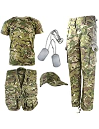 Kombat UK Explorer Kit - Traje de camuflaje para niños , Multicolor (British Terrain Pattern