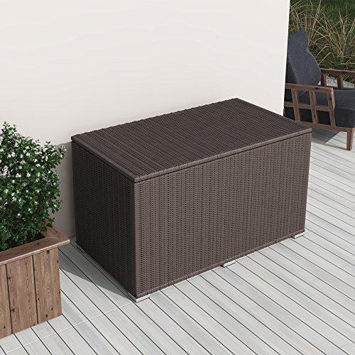 XXL Kissenbox Wasserdicht Polyrattan 950L Braun Auflagenbox Gartenbox Gartentruhe Aufbewahrungsbox Von Oskar Auf Du Und Dein Garten