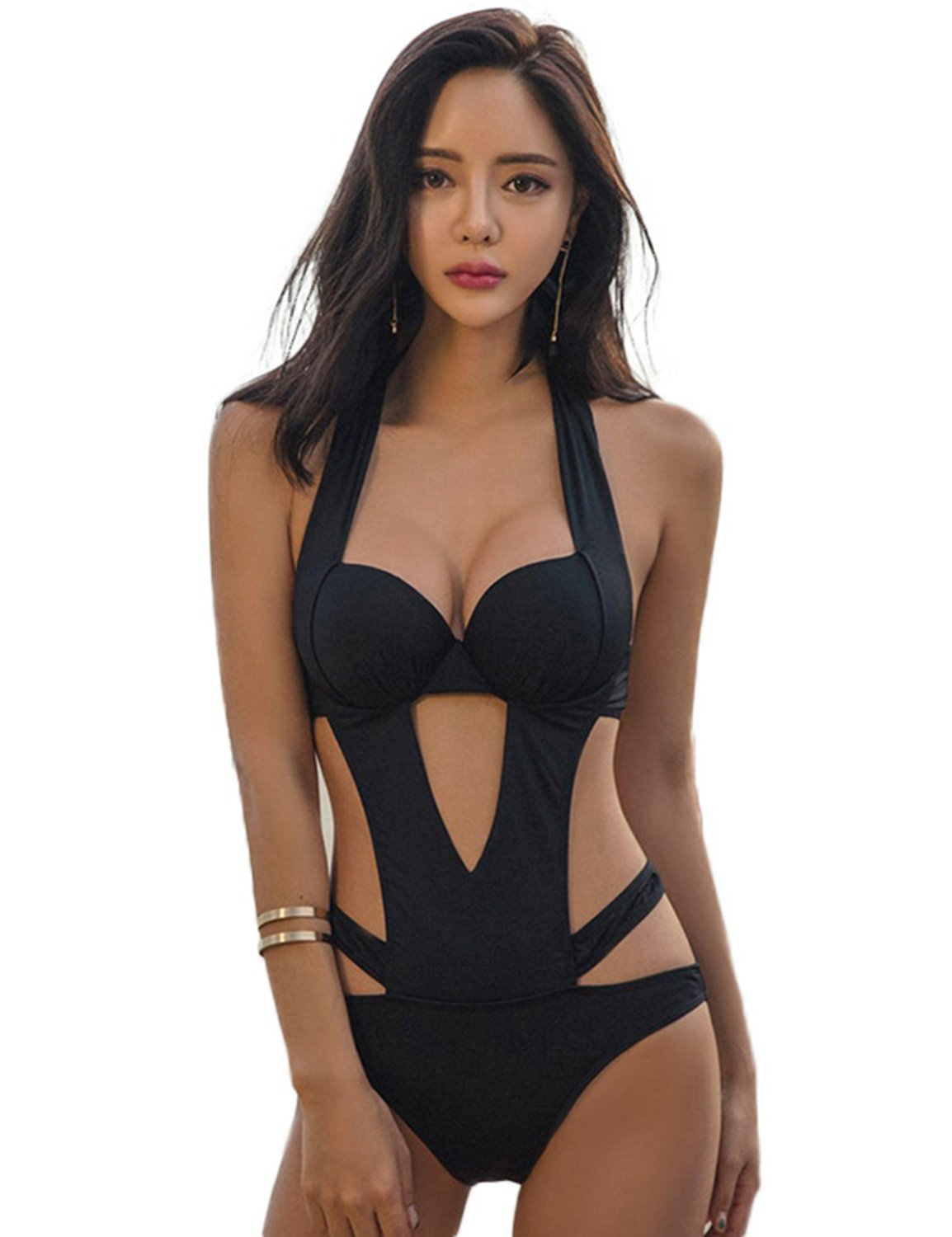 timeless design fa023 03386 Costume da Bagno Intero Donna Bikini Set Nappa Push Up Reggiseno Sexy Mare  Costumi Interi One Piece Trikini Beachwear - FACESHOPPING
