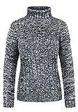 DESIRES Philipa Damen Rollkragenpullover Pullover Zopfstrick Mit Rollkragen Aus 100% Baumwolle, Größe:S, Farbe:Insignia Blue (1991)