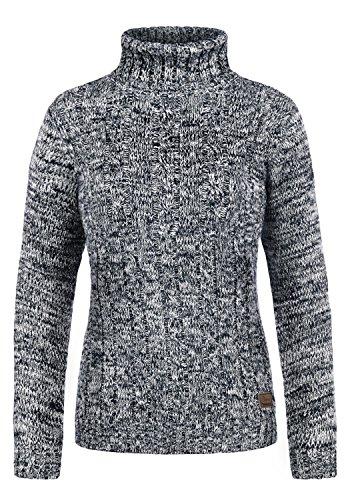 DESIRES Philipa Damen Rollkragenpullover Pullover Zopfstrick Mit Rollkragen Aus 100% Baumwolle, Größe:L, Farbe:Insignia Blue (1991) (Frauen Tall Jeans Größe 18)