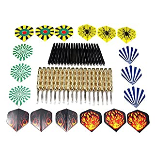 KUNSE 18Pcs 15Cm Stahltipp Dart Mit Nice Flight Game Play Darts