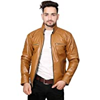 nida Casual Shine Leather Jackets for Mens and boy Men Jacket