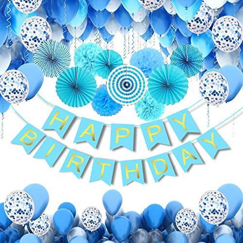 MMTX Suministros de Decoraciones para Fiestas de Cumpleaños, Paquete de 56 Favores...