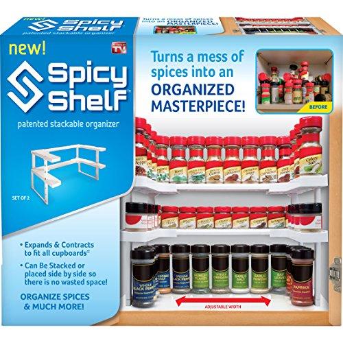 Spicy Ablage stapelbar Spice Rack Organizer hält bis zu 64Gewürze