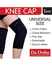 Dr Ortho Knee Cap (Black, Universal Size Knee Cap for Knee Support, Gym)